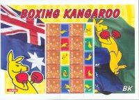stamp aus 2004 march 16th mi 2297 10x ms boxing kangaroo