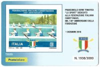 CC ITA 2018 with stamp 130th anniversary of Italian Rowing Federation