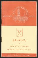 Program GBR 1948 OG London Aug. 9th day of finals Henley
