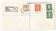 Registered letter GBR 1954 June 30th with PM Mobile Post Office A Henley and registration label Henley on Thames No. 9778