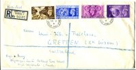 Registered letter GBR 1948 Aug. 6th OG London Henley Mobiile Post Office C with registration label Henley on Thames No. 5031 front
