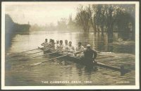 pc gbr 1905 the cambridge crew with composition of crew written on the back