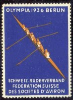 cinderella sui 1936 og berlin swiss rowing federation 4 on blue background