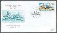 fdc bel 1987 sept. 5th pm gent