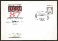 illustrated cover esp 1987 exfilna with pm dec. 4th girona nomination of banyoles as olympic rowing venue