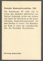 CC GER 1962 German national championships Ratzeburgeer RC crew reverse
