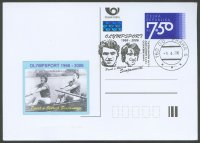 illustrated card cze 2006 with pm olympsport 1966 2006 pavel oldrich svojanovsti and photo of the brothers in a 2