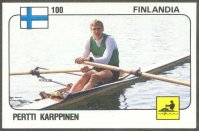 cc ita 1988 panini supersport no. 100 pertti karppinen fin three times m1x olympic champion 1976 1980 1984