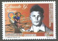 stamp uru 1996 oct. 1st mi 2206 eduardo g. risso silver medal winner 1x og london 1948