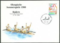 Illustrated cover KOR 1988 OG Seoul with stamp and PM bronze medal for GER 4