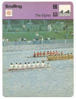 CC SUI 1979 EDITO SERVICE Sculling The Eights GDR M8 leading the field at OG Montreal 1976