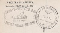 Cachet ITA 1971 Sabaudia Lago di Paola International regatta