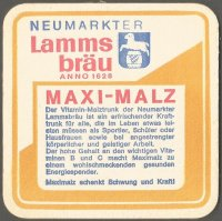 Beer mat GER 1972 LAMMSBRAEU MAXI MALZ OG Munich with times for 2000 m reverse