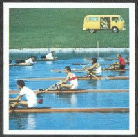 cc ger 1972 og munich huberti page 98 m1x gold medal winner juri malishev urs during his first strokes on the far right with a red singlet